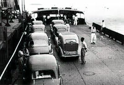 An older ferry from George Town to Butterworth in the 1950s