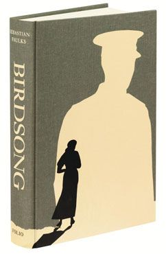 Birdsong by Sebastian Faulks. Bound in cloth, blocked with a design by Swava Harasymowicz.: Birdsong Books, Covers Birdsong, Beautiful Bookcov, Awesome Books Covers, Covers Books, Books Design, Favorite Novels, Books Coversart, Beautiful Books