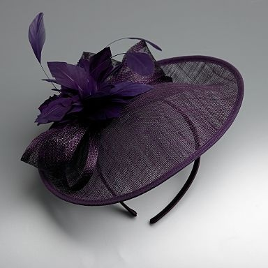 Purple flower & bow fascinator - Fascinators £30