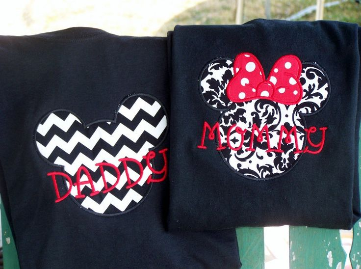 not gonna lie, i'm gonna want matching family shirts for one of the days :)  Mommy & Daddy mickey mouse shirts