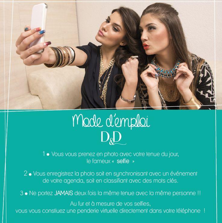 Mode d'emploi Application Dressed and date // Disponible gratuitement sur APP STORE : itunes.apple.com/... et sur PLAY STORE : https://play.google.com/store/apps/details?id=air.fr.groupe1234.dressed