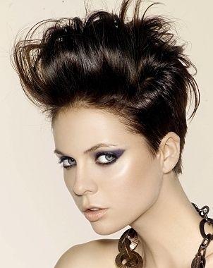pompadour cut women | Dapper Short Rocker Hair Styles