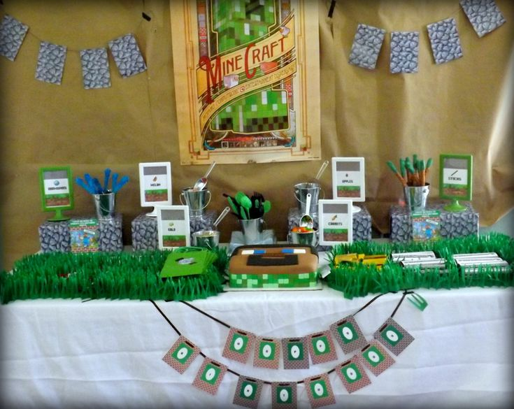 Minecraft Inspired Birthday Party - #kidsparty #partyidea: Minecraft Themed, Partyidea, Party'S, Birthday Parties, Minecraft Birthday Party, Minecraft Party, Kids Party, Party Ideas, Birthday Ideas