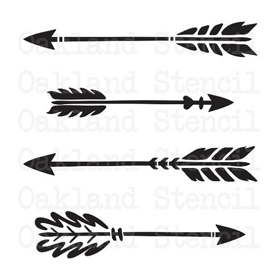 Arrow STENCIL **4 different** for Painting Signs, Wood, Fabric, Canvas, Scrapbook, Airbrush, Crafts, Party Decor, Showers