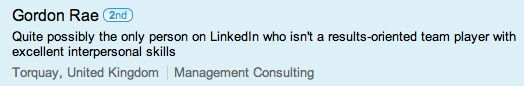 Linkedin Headline for those not looking for jobs and networking