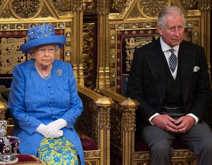 Live pictures as the Queen delivers her speech to the House of Lords at the state opening of Parliament