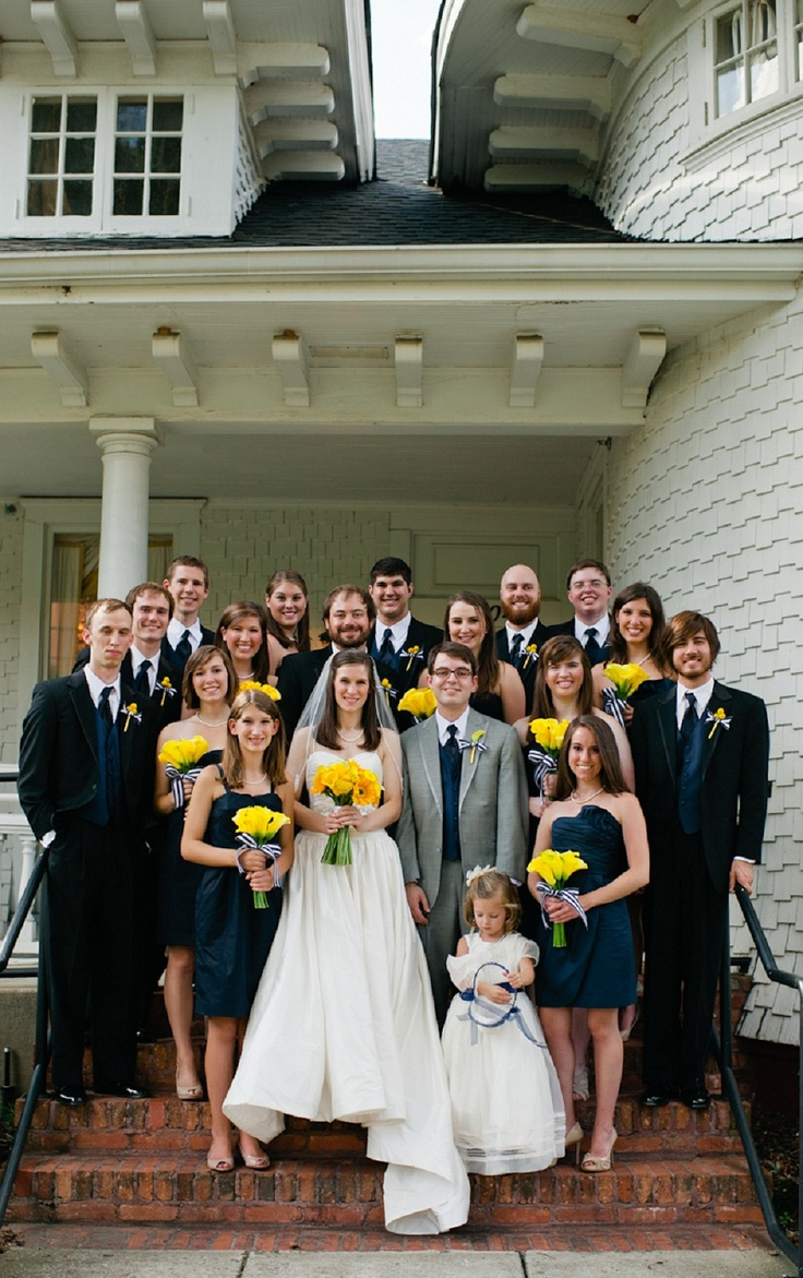 I found Sarah Grey on Pinterest!!!! So awesome #DeltaLove Modern Navy & Yellow Alabama Wedding
