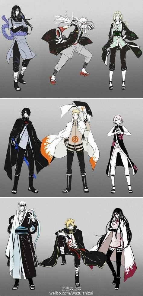 Tsunade, Jiraiya, Orochimaru #OldGeneration Sakura, Naruto, Sasuke #NewGeneration Sarada, Boruto, Mitsuki #NextGeneration ~Naruto~cool~
