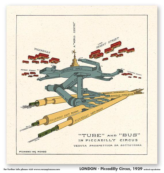 LONDON 1929  Piccadilly Circus  u  Rohr  von ArchivioRenzoPicasso