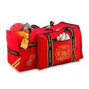 OK-1® Safety & Ergonomics OK-3000 Large Gear Bag, Red firefighter gear bag.