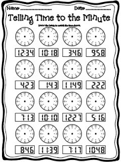 Step into 2nd Grade with Mrs. Lemons: Telling Time to the Minute