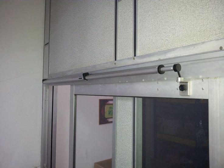 Sliding Screen Door Closer Automatic Black