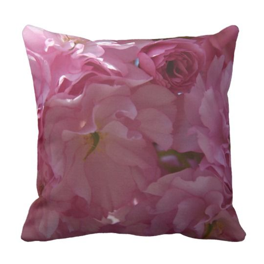 Spring Throw Pillow by www.zazzle.com/htgraphicdesigner* #zazzle #gift #giftidea #spring #pillow #cushion #flower #pink #blossom