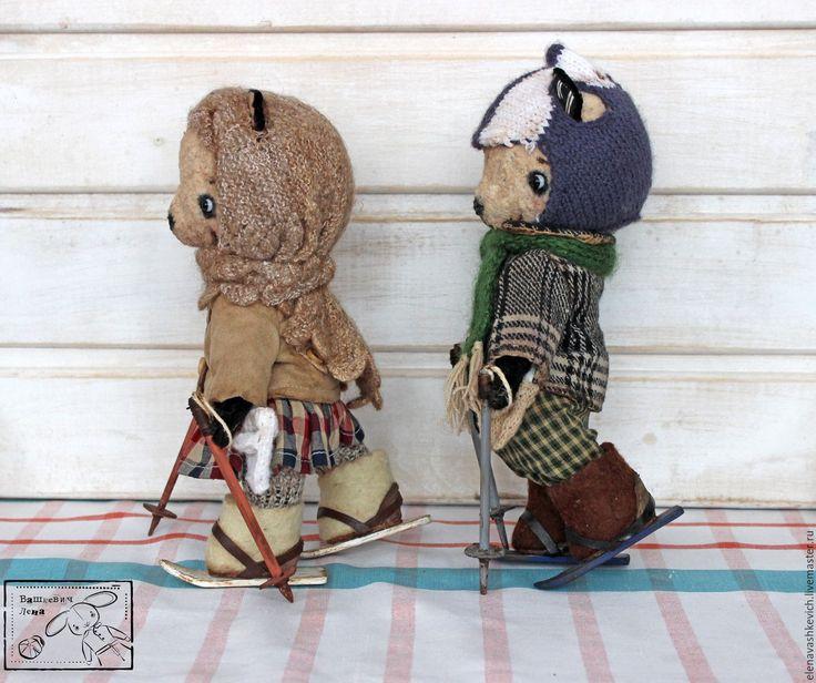 Купить Пин-Пин и Бо-Бо ХТ2016 - комбинированный, мишки тедди, тедди, панды, винтаж