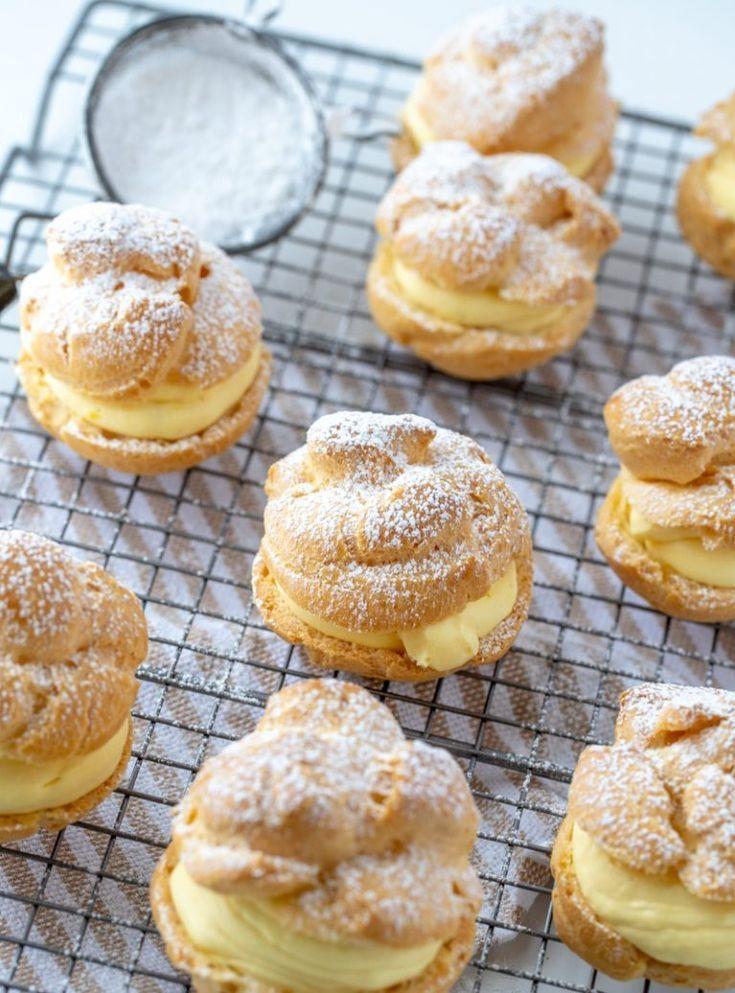 Hausgemachte Windbeutel Wunsche Und Gerichte Desserts Homemade Cream Puffs Cream Puff Recipe