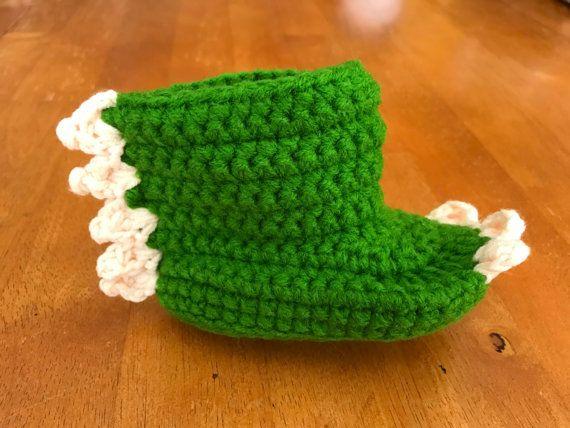 INFANT/ BABY Handmade Dinosaur Crochet Socks by CrochetErrthang