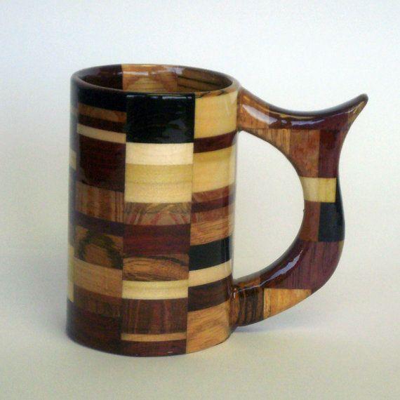 Awesome wooden mug.