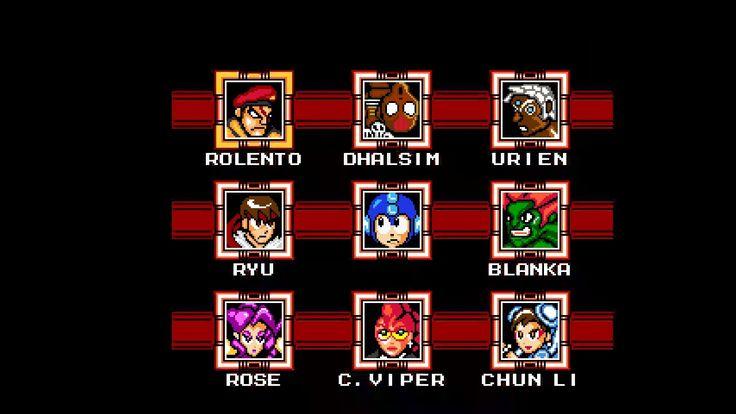 Pablo Plays - Street Fighter X Mega Man (PC, NES style) - NO SAVES !?!? ...