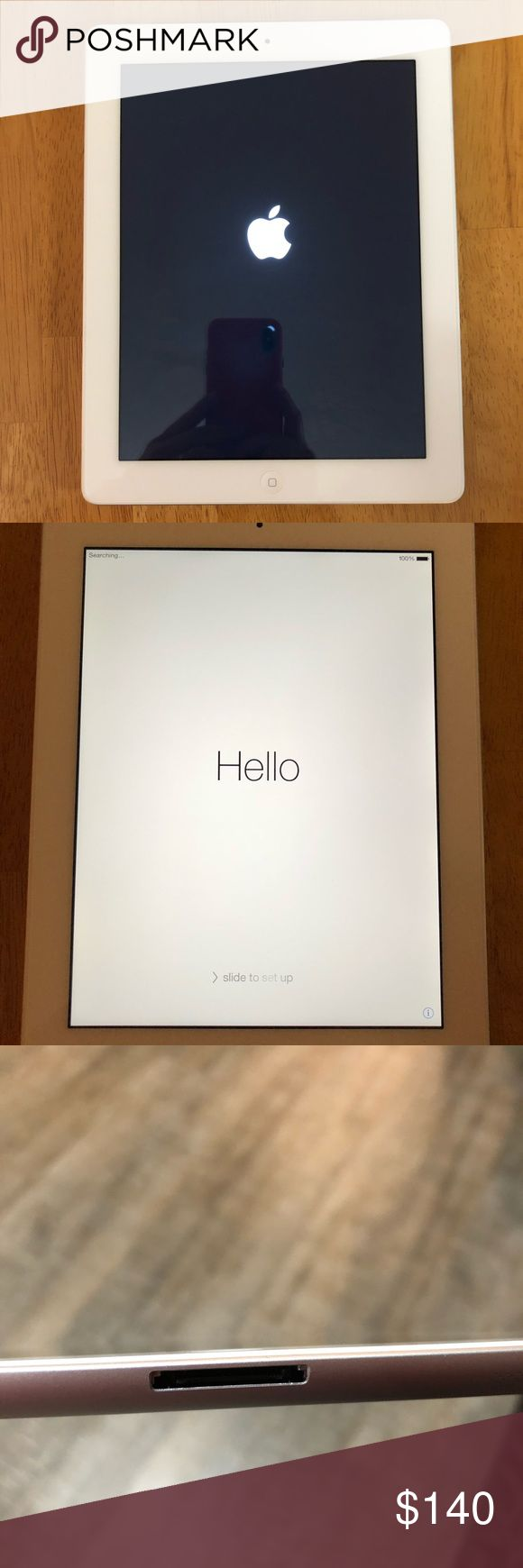 iPad 16GB, AT&T & WiFi In excellent used condition this iPad is ready for a new home. Model A1430. Completely wiped and iCloud account removed. Will come with charger and long charge cable. There is what I believe to be a tempered glass screen protector on the screen. It will be in a case for shipping though I consider the case to be in poor condition and would not use it myself. Other