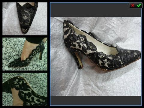 realizados con un zapato de novia que se transforma con encaje de blonda antiguo , procedente de una mantilla si te apetece para hacer unos de novia te dejo ...