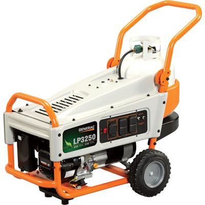 FREE SHIPPING — Generac LP3250 Portable Propane Generator — 3750 Surge Watts, 3250 Rated Watts, Model£ 6000