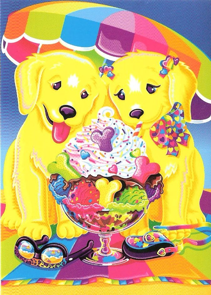 Lisa Frank-I remember trying to draw this picture several times. xD