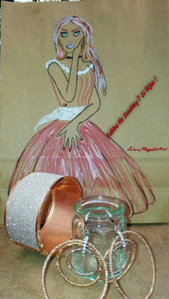 Orecchini metallo e bracciali  Vetrina #sabinanosmokingsibijou