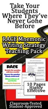RACE Written Response Mnemonic Strategy Lesson  amp  Evaluation Pack  FREEBIE