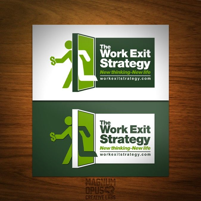 logo for The Work Exit Strategy (workexitstrategy.com) by Magnum Logo Design