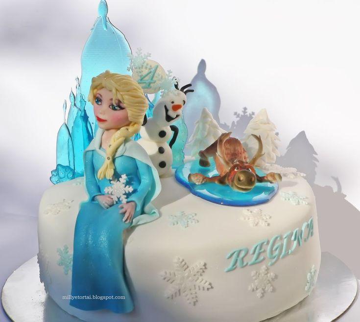 Frozen Elsa Cake.