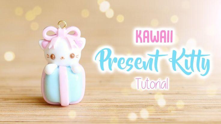 Kawaii Christmas Present Kitty│Polymer Clay Tutorial