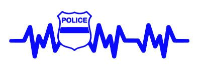 Policeman's Heartbeat Decal ,Police Decal, Police Car Decal, Police Wife Decal, Police Laptop Decal, Heartbeat Police Decal by KissMyMonograms on Etsy