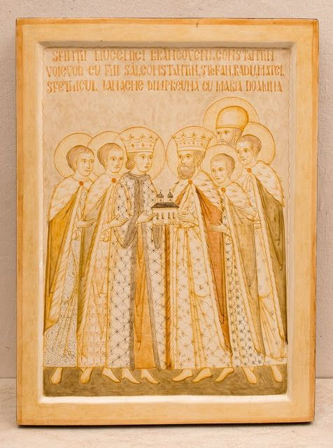 Romanian ___ by Elena Murariu_Sfintii Brancoveni     ( Whispers of an Immortalist: Icons of Martyrs 11Brâncoveanu Martyrs