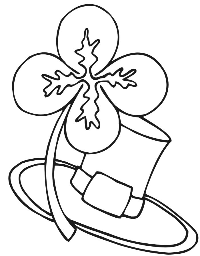 Hundreds Of Free St Patricks Day Coloring Pages That The Little Ones Will Love Pictures Four Leaf Clovers Rainbows Shamrocks And More