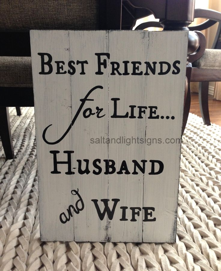 Saltandlightsigns.com Best Friends For Life Husband And