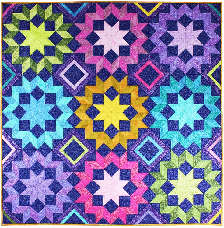 Star Frost quilt, free pattern on Michael Miller Fabrics