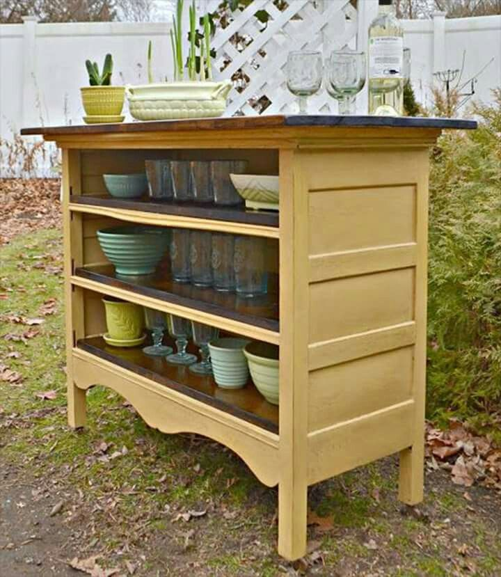 20 Of The BEST Upcycled Furniture Ideas Dresser Kitchen IslandDresser To BuffetBuild