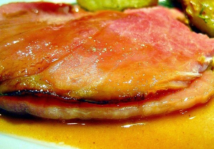 Ham & Pineapple Brown Sugar Gravy - Mom's famous ham with sweet and tangy pineapple sauce. Make enough to put on your mashed potatoes!