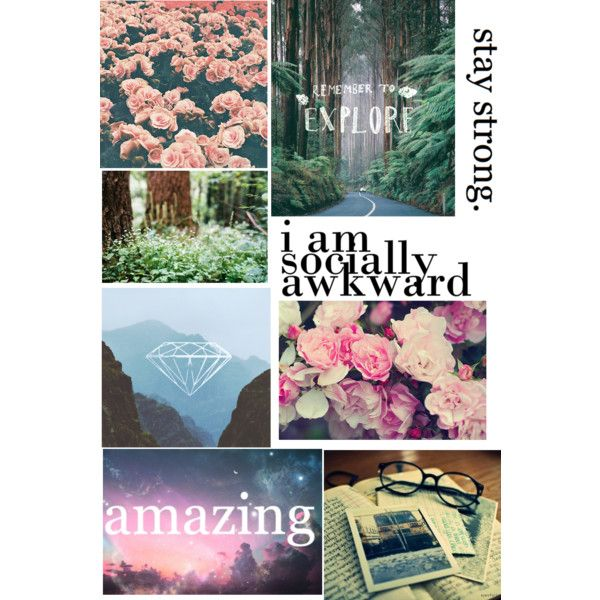 Tumblr Style Binder Cover Made By Me On Polyvore.