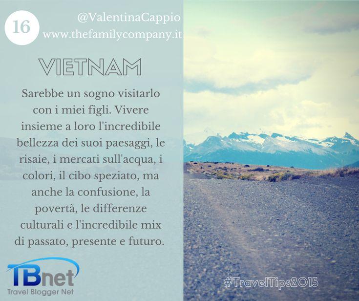 E finalmente ecco la mia #traveltips2015: il #Vietnam - un incredibile mix di passato, presente e futuro. Di Valentina Cappio.  #tbnet
