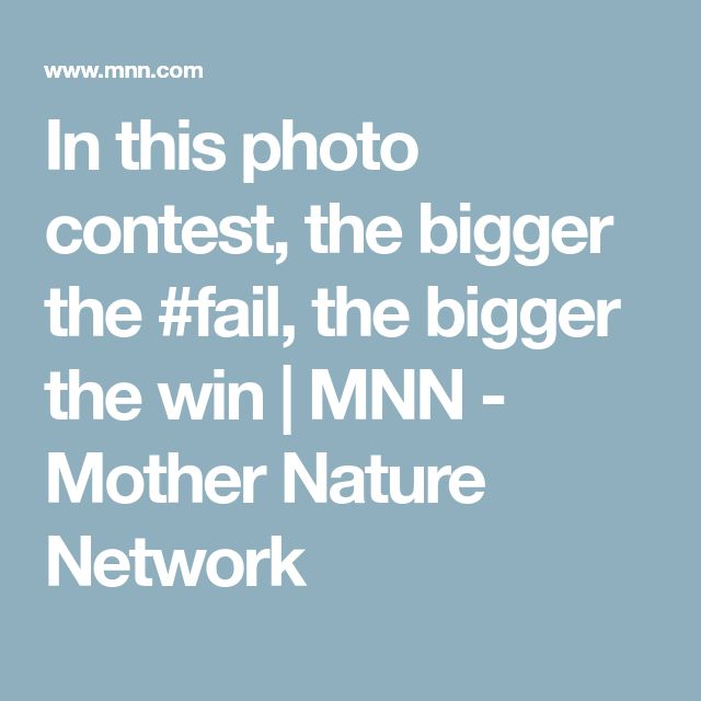 In this photo contest, the bigger the #fail, the bigger the win | MNN - Mother Nature Network