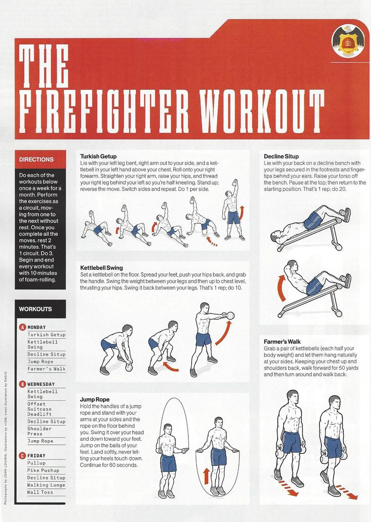 From @MensHealthMag The Firefighter Workout