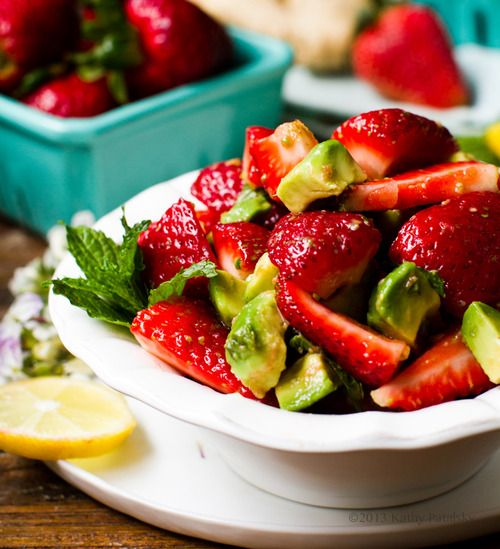 live-active:  Ginger-Mint-Lemon Strawberry Salad Avocadovegan,...