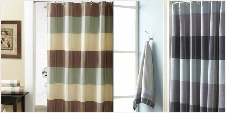 Turquoise and Brown Shower Curtain | Classy Shower Curtains For Your Bathroom!