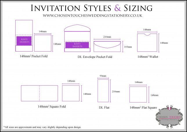 Size Wedding Invitation: 25+ Unique Envelope Size Chart Ideas On Pinterest