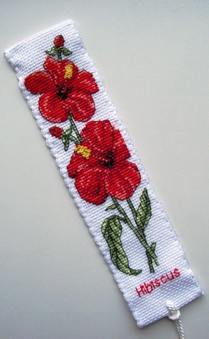Anchor Hibiscus bookmark