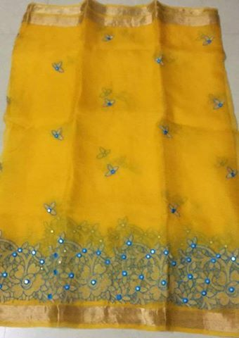 Organza Silk Sarees With Embroidery Work | Buy Online Sarees | Elegant Fashion Wear