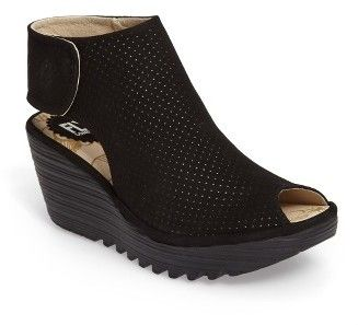 Women's Fly London Yahl Open Toe Platform Wedge #peeptoe #sale #shoes #hot