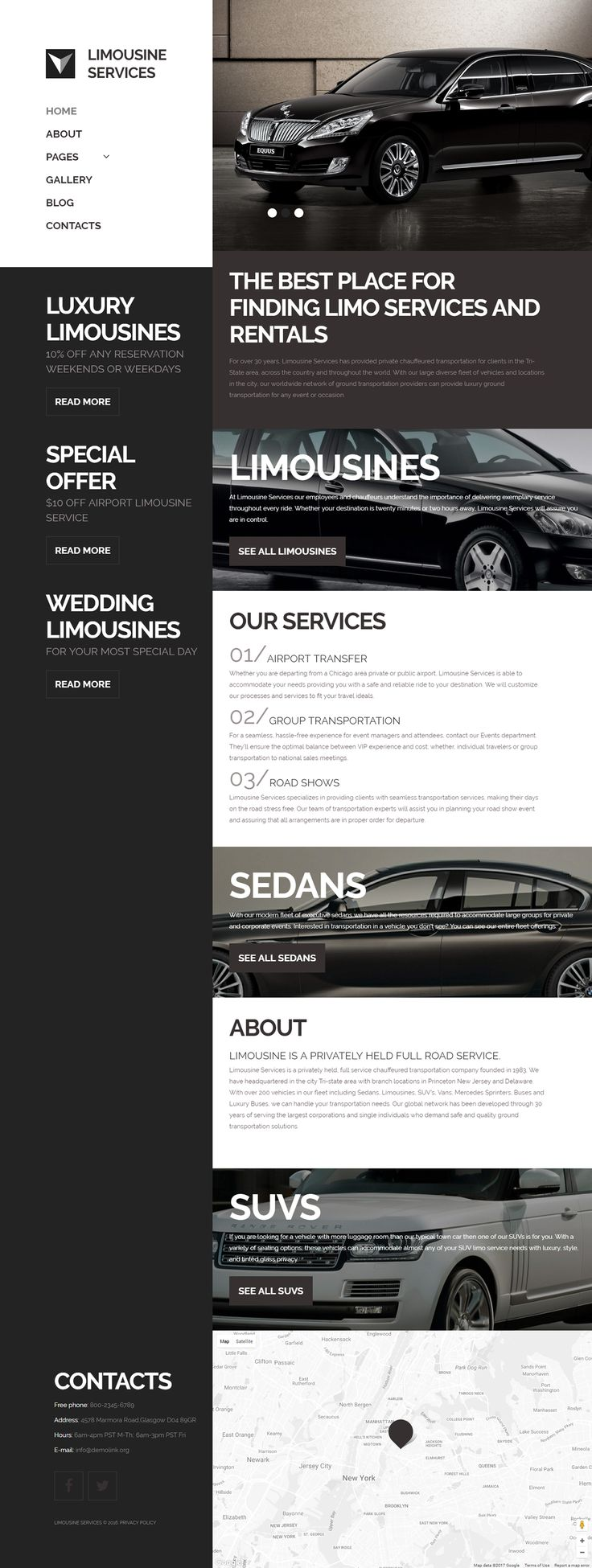 Limo rentals near knoxville - Limousine Services Joomla Template