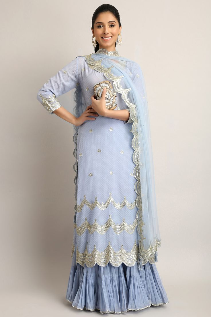 #perniaqureshi #sukritiandaakriti #limpetblue #gotapattiwork #shopthelook #perniaspopupshop #shopnow #happyshopping